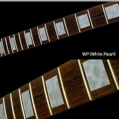 £12 • Buy Block White Silver Guitar Fret Board Markers Inlay Stickers