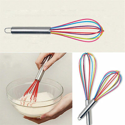 AU10.21 • Buy Silicone Mini Whisk Eggbeater Stainless Steel Utensil Kitchen Baking Tool New