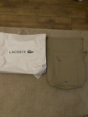 £80 • Buy Extra Large Lacoste Leather Backpack, Bag, Rucksack, Weekend Bag New