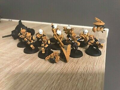 £9 • Buy Warhammer 40k 10 Tau Pathfinders/some Painted With 3 Drones (NO FLYING BASES!)