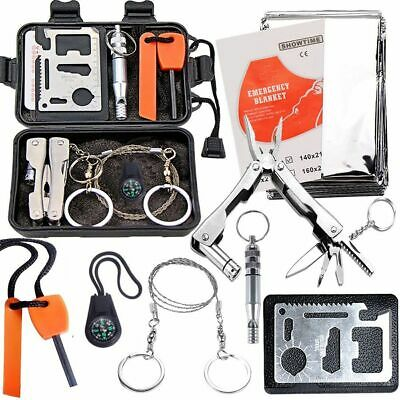 $16.99 • Buy Tactical Survival Tools Kit Camping Hiking Emergency Outdoor Military EDC Gear
