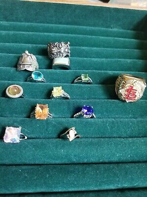 $ CDN18.87 • Buy Lot Of Vintage To Now Sterling Hge & Costume Rings Sports