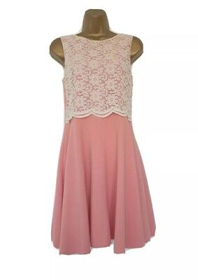 £6 • Buy River Island Ladies Size 12 Coral Pink Lovely Dress Great Clean Condition