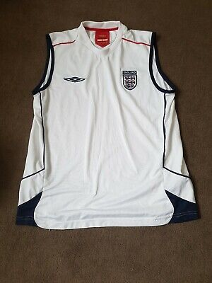 £5.99 • Buy Official England Home Training Sleeveless Top Size M/L Umbro