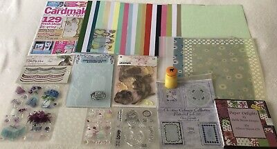 £6.50 • Buy Craft Room Clear Out Card Making Bundle (stamps Etc) New