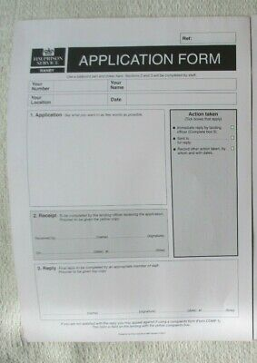 £3.50 • Buy HMP Ranby Obsolete Triplicate Application Forms X2 Unused