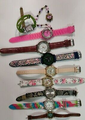 $ CDN11.32 • Buy LOT OF 10 VINTAGE TO NOW  WATCHES { Geneva, Beya)mixed Lot UNTESTED