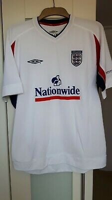 £15.99 • Buy ENGLAND UMBRO WHITE NATIONWIDE TRAINING TOP - World Cup 2002 (?)-MEDIUM PREOWNED