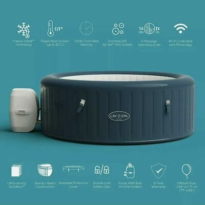 £624.99 • Buy Lay-Z-Spa MILAN 6 Person Smart Hot Tub 2021 WIFI New *FREE TRACKED DELIVERY**