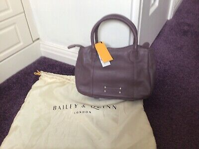 £6.40 • Buy Bailey & Quinn Leather Hand Bag, Brand New With Tags, Colour Lilac 51