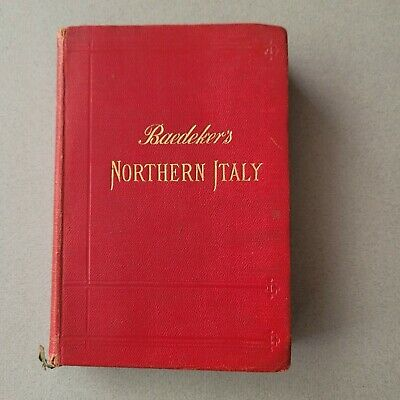 £15 • Buy 1913 Baedeker's Northern Italy Leghorn Florence  14th Remodelled Edition