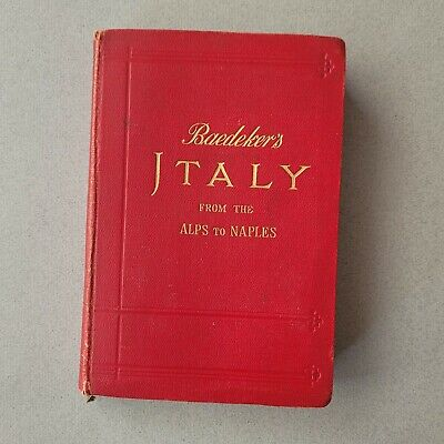 £15 • Buy 1909 Baedeker's Italy From The Alps To Naples Handbook  2nd Edition