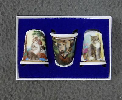 £3.99 • Buy Boxed Set Of Bone China Thimbles - New - Assorted Cats