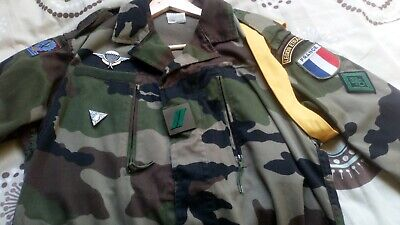 £60 • Buy French Foreign Legion 2rep Para Ccl Company F2 Cce Combat Jacket Size 120/44-48