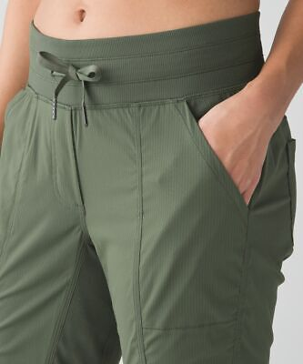 $ CDN62.93 • Buy Rare Color Lululemon Street To Studio Pant Unlined - Size 4 - Fatigue Green