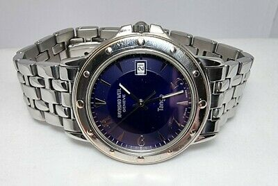 £225 • Buy Raymond Weil Tango 5560  Blue Dial  Men Watch With Box And Papers
