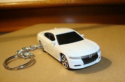 $15 • Buy 2015 DODGE CHARGER NEW KEY CHAIN WHITE ! Key Ring Diecast 1/64 SCALE