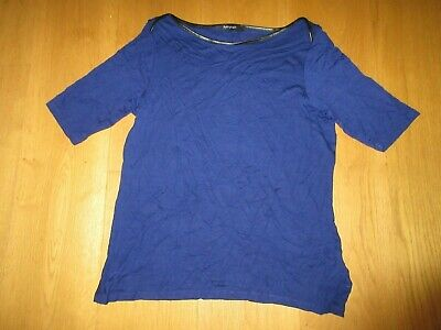£2.99 • Buy Ladies Marks And Spencer Autograph Cobalt Blue Short Sleeve Top, Size 16