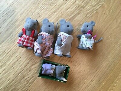 £3.99 • Buy 1980s Sylvanian Families Thistlethorn Mice Family (5 Figures)