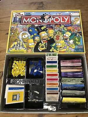 £5 • Buy The Simpsons Monopoly Board Game - Hasbro Parker 2003