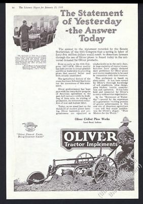 AU50.28 • Buy 1919 Oliver Tractor Implements Plow Farm Farmer Plowing Photo Vintage Print Ad