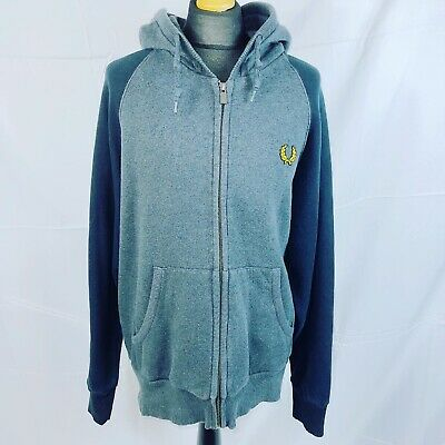 £25 • Buy Fred Perry Zip Up Grey Hoodie Size Large Excellent Condition