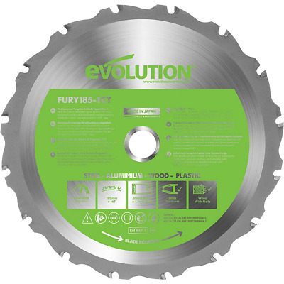 £24.30 • Buy Evolution Fury Multi-Purpose Carbide-Tipped Blade, 185 Mm Assorted Sizes NEW UK*