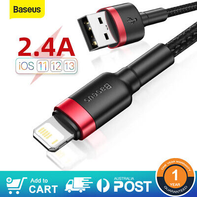 AU6.49 • Buy BASEUS Braided Fast Charging USB Cable Charger Cord For IPhone 13 12 11 XS 8 SE