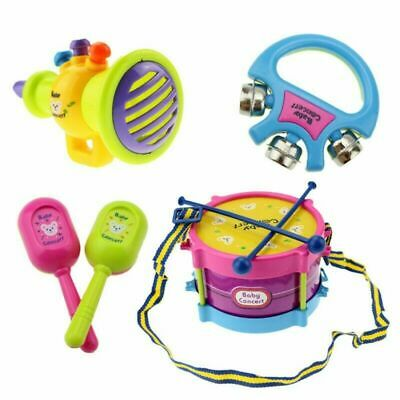 £7.99 • Buy 5Pcs Kids Baby Roll Drum Musical Instruments Band Kit For Children Toy Gift Set