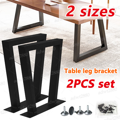 £37.10 • Buy Industrial Table Legs 2PC Steel Metal Trapezium For Dining/Bench/Office/Desk UK