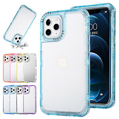 AU14.92 • Buy For IPhone 11 12 Pro Max 13 XS XR 8 7+ Shockproof Case Bumper Clear Phone Cover