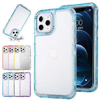 AU10.19 • Buy For IPhone 11 12 Pro Max XS XR 8 7+ SE2 Shockproof Case Bumper Clear Phone Cover