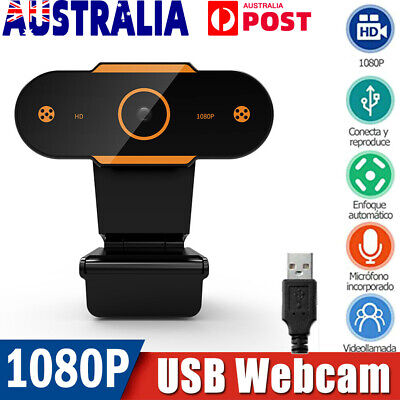 AU26.91 • Buy HD Gaming Webcam 1080P With Microphone USB 2.0 60 Fps PC Streaming Web Camera AU