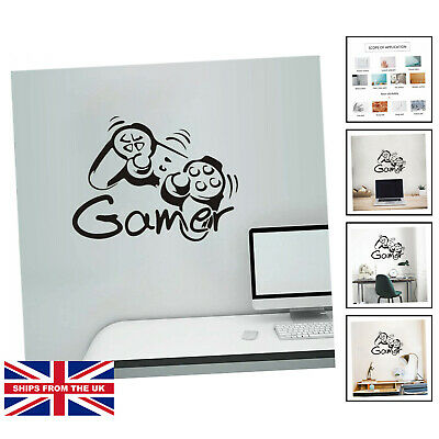 £10.25 • Buy Gaming Accessories Wall Stickers For Bedrooms For Boys, Gamepad Gamer ...
