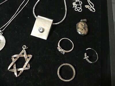 $ CDN81.83 • Buy A Lot Of Estate Finds Beautiful Vintage Sterling Silver Jewelry #1