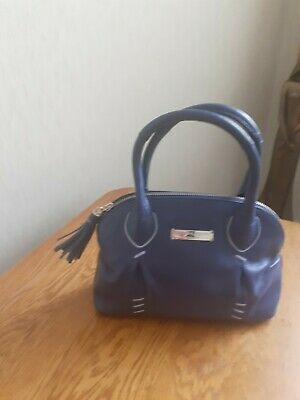 £5 • Buy Bailey & Quinn Ladies Leather Handbag Blue (small) Used Once