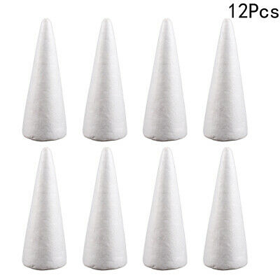 £3.99 • Buy 12Pcs Solid Polystyrene Cone For Art Projects Wedding Christmas Tree Decor New