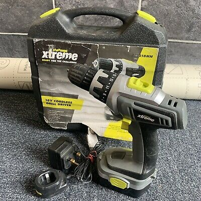 £24.95 • Buy Challenge Xtreme 18V Cordless Drill Driver With Battery & Charger