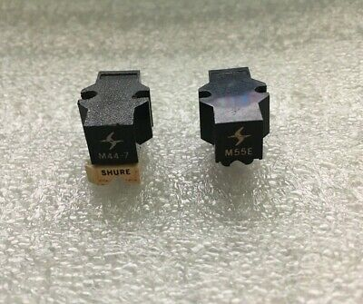 £100.13 • Buy SHURE M44-7 & M55E (2 Cartridge LOT) Tested, (Needs Stylus) Great Sound
