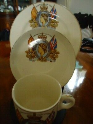 £9 • Buy 1953 Coronation Cup Saucer & Plate
