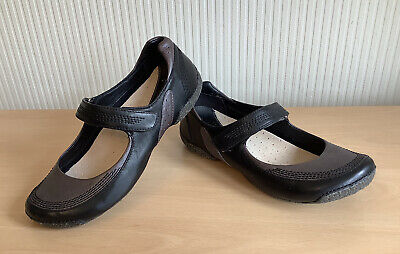 £5.50 • Buy Ladies CLARKS ACTIVE AIR Comfort Black & Pewter Leather Flat Shoes, UK Size 4D