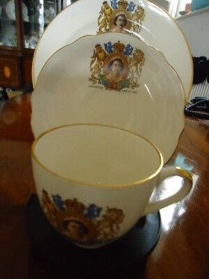 £9 • Buy 1953 Coronation Cup Saucer & Side Plate