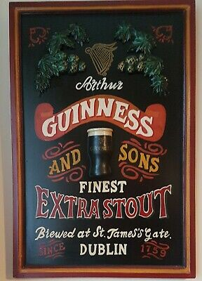 £20 • Buy Vintage? Arthur GUINNESS And SONS Finest Extra Stout Advertising Sign