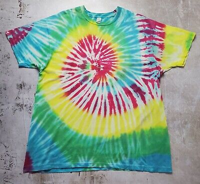 $ CDN25.18 • Buy Vintage 80s Tie Dye Grateful Dead Style T-Shirt (size 2XL) Made In USA S/s