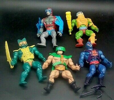 $53 • Buy 5 Figure Lot Of Masters Of The Universe Vintage 1980s Mattel MOTU  Some Weapons