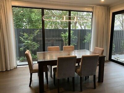 AU699 • Buy 6 Seater, Solid Timber Dining Table & Chairs, Luxury & High Quality