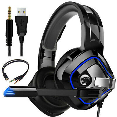 AU28.79 • Buy 3.5mm Gaming Headset For Xbox One PS4 Nintendo Switch PC With Mic Headphones LED