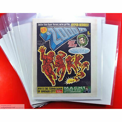 £9.98 • Buy 2000AD Comics Bags And Boards Size2 For Progs Annuals And Magazines  X 10 .