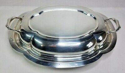 £10 • Buy Vintage Silver Plated Entree Dish With Makers Mark
