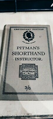£3.99 • Buy Vintage Book- The Pitman's Shorthand Instructor - Centenary Edition